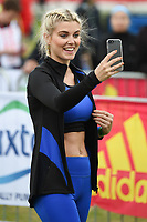 Ashley James<br /> at the start of the 2017 London Marathon on Blackheath Common, London. <br /> <br /> <br /> ©Ash Knotek  D3253  23/04/2017