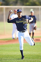 Edward Russell (47), from Vacaville, California, while playing for the Padres during the Under Armour Baseball Factory Recruiting Classic at Gene Autry Park on December 27, 2017 in Mesa, Arizona. (Zachary Lucy/Four Seam Images)