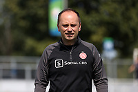 CARY, NC - SEPTEMBER 12: Head coach Mark Parsons of the Portland Thorns FC before a game between Portland Thorns FC and North Carolina Courage at Sahlen's Stadium at WakeMed Soccer Park on September 12, 2021 in Cary, North Carolina.