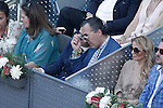 Felipe Juan Froilan de Todos los Santos and his father Alvaro de Marichalar during Madrid Open Tennis 2015 Final match.May, 10, 2015.(ALTERPHOTOS/Acero)