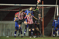 Dave McCartney of Aveley clears a Hornchurch attack - AFC Hornchurch vs Aveley - Ryman League Premier Division Football at The Stadium - 08/03/11 - MANDATORY CREDIT: Gavin Ellis/TGSPHOTO - Self billing applies where appropriate - Tel: 0845 094 6026
