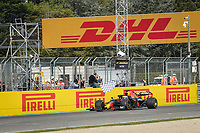 18th April 2021; Autodromo Enzo and Dino Ferrari, Imola, Italy; F1 Grand Prix of Emilia Romagna, Race Day;  The chequered flag for winner VERSTAPPEN Max (nld), Red Bull Racing Honda RB16B