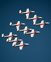 "111008-N-DR144-759 SAN FRANCISCO (Oct. 8, 2011) The Canadian Forces 432 Air Demonstration Squadron ""The Snowbirds"" performs during San Francisco's Fleet Week Air Show.  U.S. Navy photo by Mass Communication Specialist 2nd Class James R. Evans (RELEASED)"