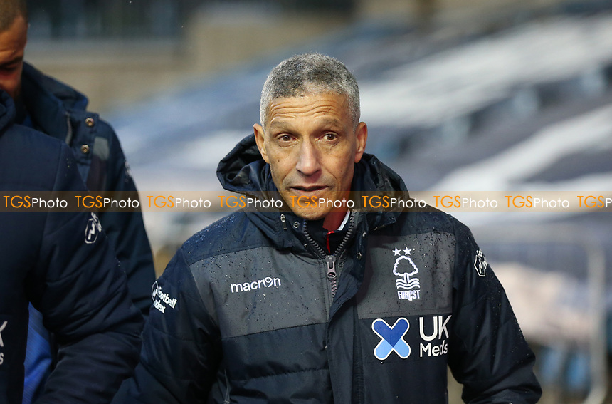 Chris Hughton manager of Nottingham Forest comes off at half time during Millwall vs Nottingham Forest, Sky Bet EFL Championship Football at The Den on 19th December 2020