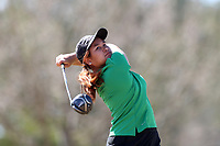 WALLACE, NC - MARCH 09: Praew Nontarux of USC Upstate tees off on the 13th hole of the River Course at River Landing Country Club on March 09, 2020 in Wallace, North Carolina.