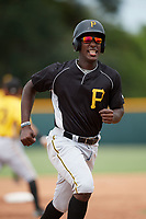 Pittsburgh Pirates Sherten Apostel (3) running the bases during an Instructional League intrasquad black and gold game on October 3, 2017 at Pirate City in Bradenton, Florida.  (Mike Janes/Four Seam Images)