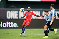 St. Louis, MO - SEPTEMBER 10:  of the United States keeps his eyes on the ball during their game versus Uruguay at Busch Stadium, on September 10, 2019 in St. Louis, MO.
