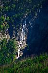 Deutschland, Bayern, Berchtesgadener Land, am Obersee im Nationalpark Berchtesgaden, der Roethbachfall | Germany, Upper Bavaria, Berchtesgadener Land, near Lake Koenigssee (Upper Lake) in Berchtesgaden National Park, waterfall Roethbachfall