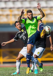 Vincent Lucas Weijl of Wofoo Tai Po (R) comp Kin Man Tong of Sun Pegasus FC (L) during the HKFA Premier League between Wofoo Tai Po vs Sun Pegasus at the Tai Po Sports Ground on 22 November 2014 in Hong Kong, China. Photo by Aitor Alcalde / Power Sport Images