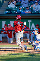 Adrian Rondon (37) of the Orem Owlz bats against the Ogden Raptors at Lindquist Field on June 22, 2019 in Ogden, Utah. The Owlz defeated the Raptors 7-4. (Stephen Smith/Four Seam Images)