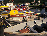 fishing boats, Gaspe Peninsula, Quebec, Canada, St. Lawrence River, Fishing boats docked in the harbor of L'Anse-au-Griffon on the Gaspe Peninsula on the Gulf of St. Lawrence in Quebec.