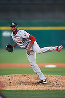 Louisville Bats starting pitcher Amir Garrett (25) during a game against the Buffalo Bisons on June 22, 2016 at Coca-Cola Field in Buffalo, New York.  Buffalo defeated Louisville 8-1.  (Mike Janes/Four Seam Images)
