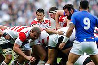 Japan Scrum-Half Fumiaki Tanaka - Mandatory byline: Rogan Thomson - 03/10/2015 - RUGBY UNION - Stadium:mk - Milton Keynes, England - Samoa v Japan - Rugby World Cup 2015 Pool B.