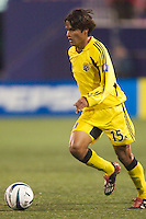 Freddy Garcia of the Crew during a game against the MetroStars. The Columbus Crew defeated the NY/NJ MetroStars 1-0 on 4/12/03 at Giant's Stadium, NJ.