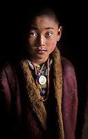 Monk from Lhonnagon Monastery   <br /> near Kandze, Kham, Tibet 2005.