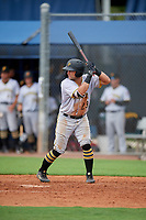 GCL Pirates Kaleb Foster (23) at bat during a Gulf Coast League game against the GCL Rays on August 7, 2019 at Charlotte Sports Park in Port Charlotte, Florida.  GCL Rays defeated the GCL Pirates 5-3 in the second game of a doubleheader.  (Mike Janes/Four Seam Images)