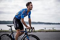 Dries De Bondt (BEL/Veranda's Willems Crelan) pre race. <br /> <br /> Binckbank Tour 2018 (UCI World Tour)<br /> Stage 7: Lac de l'eau d'heure (BE) - Geraardsbergen (BE) 212.7km