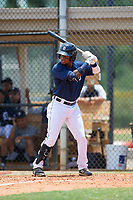 FCL Tigers East Yoneiry Acevedo (4) bats during a game against the FCL Yankees on June 28, 2021 at Tigertown in Lakeland, Florida.  (Mike Janes/Four Seam Images)