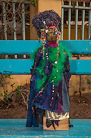 Mami Watas, Artistic Creations of Sylvette Maurin.  Mythological Guardians of the Sea.   Goree Island, Dakar, Senegal. Model and Property released.