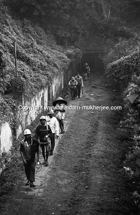Miners coming out of the inclined mine at North Searsole Coliery in Ranigunj, West Bengal, India. Arindam Mukherjee