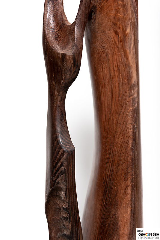 Title: Oiled Redwood<br /> Materials: Steel, Brass and Redwood<br /> Size: 42Tx7x7<br /> Price: Available on Request