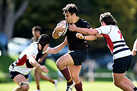Action from the preaseason 1st XV rugby union match between Otago Boys' High School and King's College at Otago BHS in Dunedin, New Zealand on Saturday, 17 April 2021. Photo: Joe Allison / bwmedia.co.nz