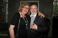 Michelle Blanc  et Thierry Arnaud au Gala Phenicia 2018, le jeudi 31 mai 2018, au Parquet de la Caisse de Depot et Placements du Quebec<br /> <br /> PHOTO : Agence Quebec Presse