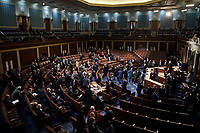 Senators and Senate clerks leave to debate the certification of Arizona's Electoral College votes from the 2020 presidential election during a joint session of Congress on Wednesday, January 6, 2021.<br /> CAP/MPI/RS<br /> ©RS/MPI/Capital Pictures
