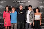 (L-R) Macarena Gomez, Emilio Palacios, Zoe Berriatua, Jorge Clemente and Beatriz Medina pose during `Los heroes del mal´ film presentation in Madrid, Spain. September 09, 2015. (ALTERPHOTOS/Victor Blanco)