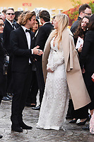 """Dougie Poynter and Ellie Goulding<br /> arriving for the world premiere of """"Our Planet"""" at the Natural History Museum, London<br /> <br /> ©Ash Knotek  D3491  04/04/2019"""