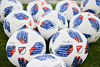 San Jose, CA - Saturday June 09, 2018: MLS adidas soccer balls during a Major League Soccer (MLS) match between the San Jose Earthquakes and Los Angeles Football Club at Avaya Stadium.
