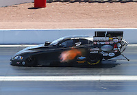 Apr 12, 2015; Las Vegas, NV, USA; NHRA funny car driver Jeff Arend during the Summitracing.com Nationals at The Strip at Las Vegas Motor Speedway. Mandatory Credit: Mark J. Rebilas-