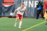 FOXBOROUGH, MA - OCTOBER 16: Derek Waldeck #18 of North Texas SC passes the ball during a game between North Texas SC and New England Revolution II at Gillette Stadium on October 16, 2020 in Foxborough, Massachusetts.
