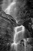 A waterfall in Glacier National Park on the Going to the Sun road.
