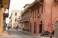 Senegal, Saint Louis.  Street Scene, French Colonial Architecture.