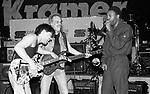 Eddie Van Halen , Michael Winslow & Tim Bogert at NAMM 1987