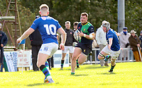Saturday 10th October 2020 | Ballynahinch vs Queens<br /> <br /> Zac Ward during the Energia Community Series clash between Ballynahinch and Queens at Ballymacarn Park, Ballynahinch, County Down, Northern Ireland. Photo by John Dickson / Dicksondigital
