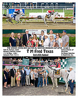 T M Fred Texas winning The Sheikh Zayed Bin Sultan Al Nahyan Arabain Cup Open at Delaware Park on 7/2/11