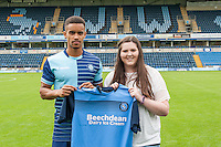 Paris Cowan-Hall of Wycombe Wanderers during the Wycombe Wanderers 2016/17 Team & Individual Squad Photos at Adams Park, High Wycombe, England on 1 August 2016. Photo by Jeremy Nako.