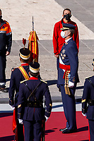 MADRID, SPAIN- October 12: **NO SPAIN** King Felipe VI of Spain attends The National Day Military Parade at Royal Palace on October 12, 2020 in Madrid, Spain. <br /> CAP/MPI/RJO<br /> ©RJO/MPI/Capital Pictures