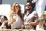 Spanish actress Maria Castro and her boyfriend during Madrid Open Tennis 2015 match.May, 7, 2015.(ALTERPHOTOS/Acero)