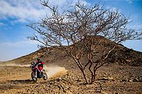 31st December 2020, Jeddah, Saudi Arabian. The vehicle and river shakedown for the 2021 Dakar Rally in Jeddah;   47 Benavides Kevin arg, Honda, Monster Energy Honda Team 2021, Motul, Moto, Bike, action during the shakedown of the Dakar 2021 in Jeddah