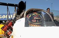 May 21, 2011; Topeka, KS, USA: NHRA top fuel dragster driver Cory McClenathan during qualifying for the Summer Nationals at Heartland Park Topeka. Mandatory Credit: Mark J. Rebilas-