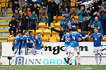 St Johnstone v Aberdeen…15.09.18…   McDiarmid Park     SPFL<br />David McMillan celebrates his goal<br />Picture by Graeme Hart. <br />Copyright Perthshire Picture Agency<br />Tel: 01738 623350  Mobile: 07990 594431