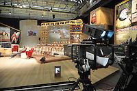 """- Milano, gli studi televisivi di LA7 da cui va in onda la trasmissione di approfondimento informativo """"L'Infedele""""<br /> <br /> - Milan, television studios of LA7 from which is transmitted the in-depth information show """"L'Infedele"""""""