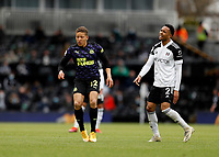 23rd May 2021; Craven Cottage, London, England; English Premier League Football, Fulham versus Newcastle United; Dwight Gayle of Newcastle United marked by Kenny Tete of Fulham