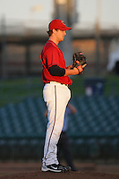 Mike Modica of the Lancaster JetHawks during game against the Lake Elsinore Storm at Clear Channel Stadium in Lancaster,California on September 1, 2010. Photo by Larry Goren/Four Seam Images
