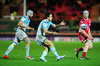 Julien Tisseron of Bayonne in action during the European Rugby Challenge Cup Round 4 match between the Scarlets and Bayonne at the Parc Y Scarlets in Llanelli, Wales, UK. Saturday 14 December 2019