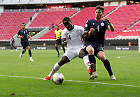 ZAPOPAN, MEXICO - MARCH 21: Benji Michel #14 of the United States battles for the ball during a game between Dominican Republic and USMNT U-23 at Estadio Akron on March 21, 2021 in Zapopan, Mexico.