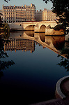 Paris, France, River Seine, architecture of the Left bank, 6th Arondissement, Europe.